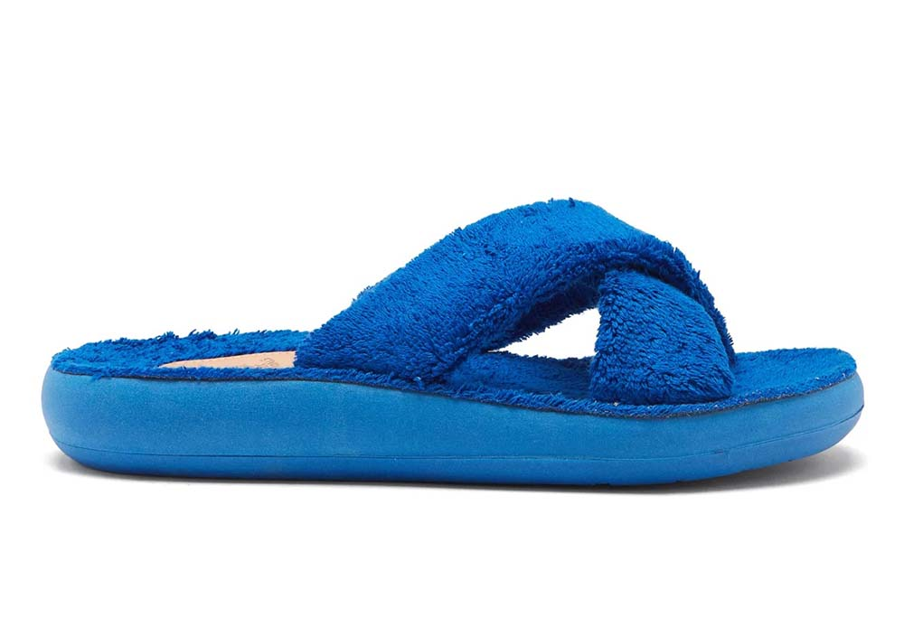 Thais crossover-strap terry slides