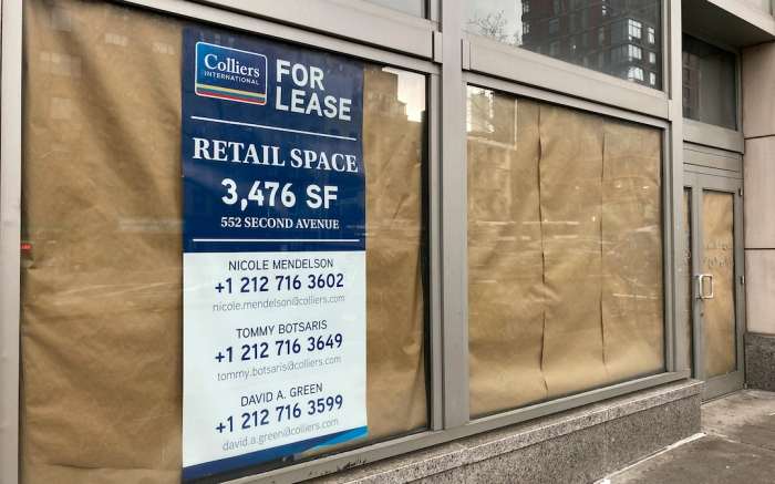 Photo by: STRF/STAR MAX/IPx20214/16/21Stores in Manhattan continue to shutter as many businesses have been unable to weather the economic havoc wreaked upon them during the Coronavirus Pandemic.