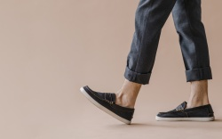 Man in a jeans and slip-on