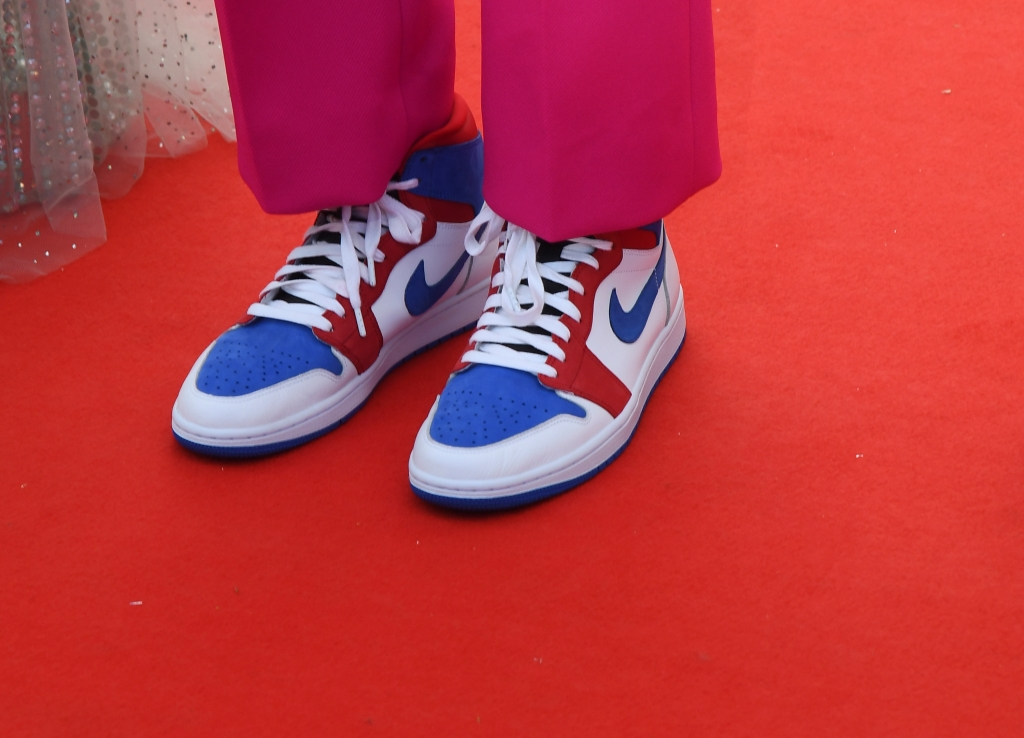 Spike Lee's custon Cannes Nike Air Jordans at the Opening Night Ceremony of 'Annette' at the Cannes Film Festival on July 6, 2021 in Cannes, France.