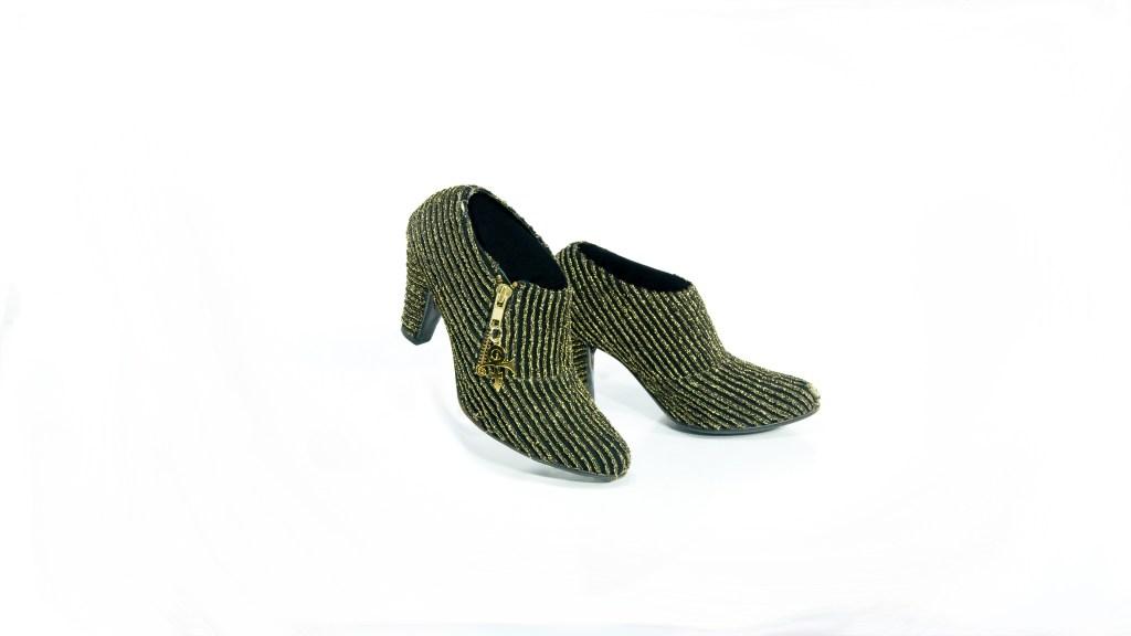 Prince shoes, gold lame, paisley park tour, collection