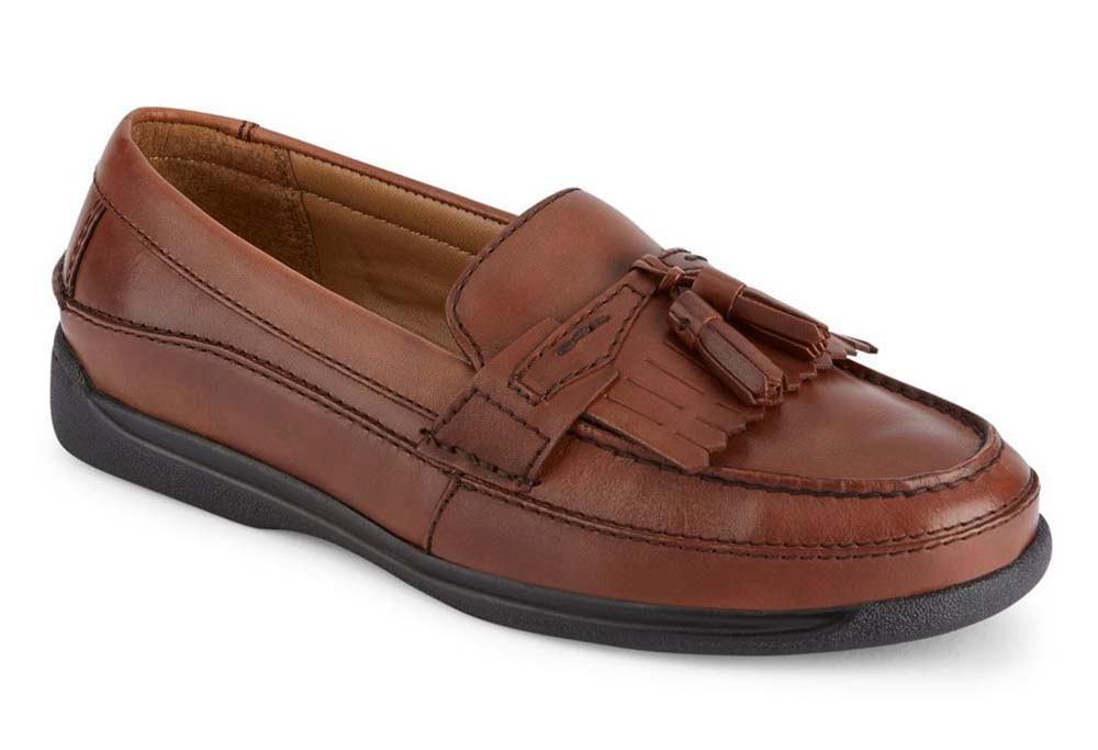 Dockers Mens Sinclair Leather Dress Casual Tassel Loafer Shoe