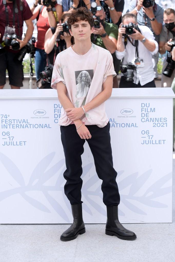 Timothée Chalamet, Givenchy, boots