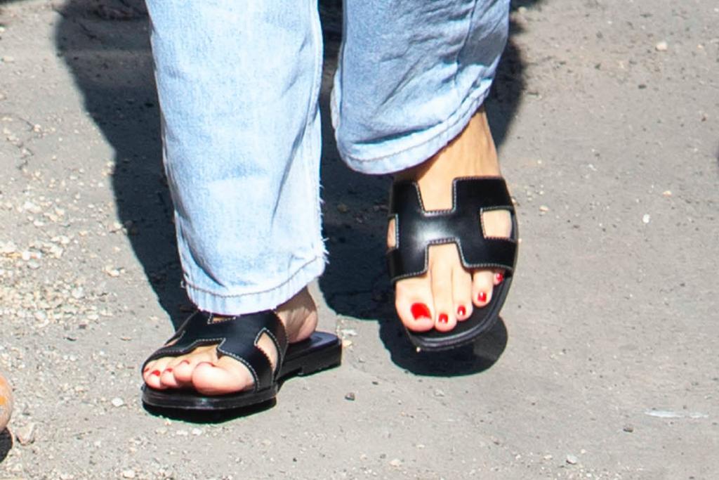 Sofia Richie, Hermés, sandals, hollywood