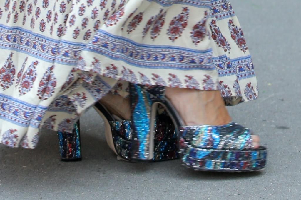 Sarah Jessica Parker, platform sandals