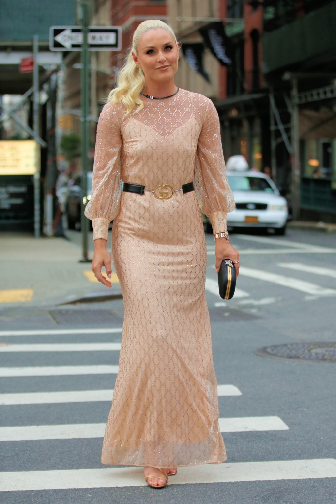 Lindsey Vonn Stuns In A Gucci Dress With Gold High Heels In New York CityPictured: Lindsey VonnRef: SPL5238482 120721 NON-EXCLUSIVEPicture by: Christopher Peterson / SplashNews.comSplash News and PicturesUSA: +1 310-525-5808London: +44 (0)20 8126 1009Berlin: +49 175 3764 166photodesk@splashnews.comWorld Rights
