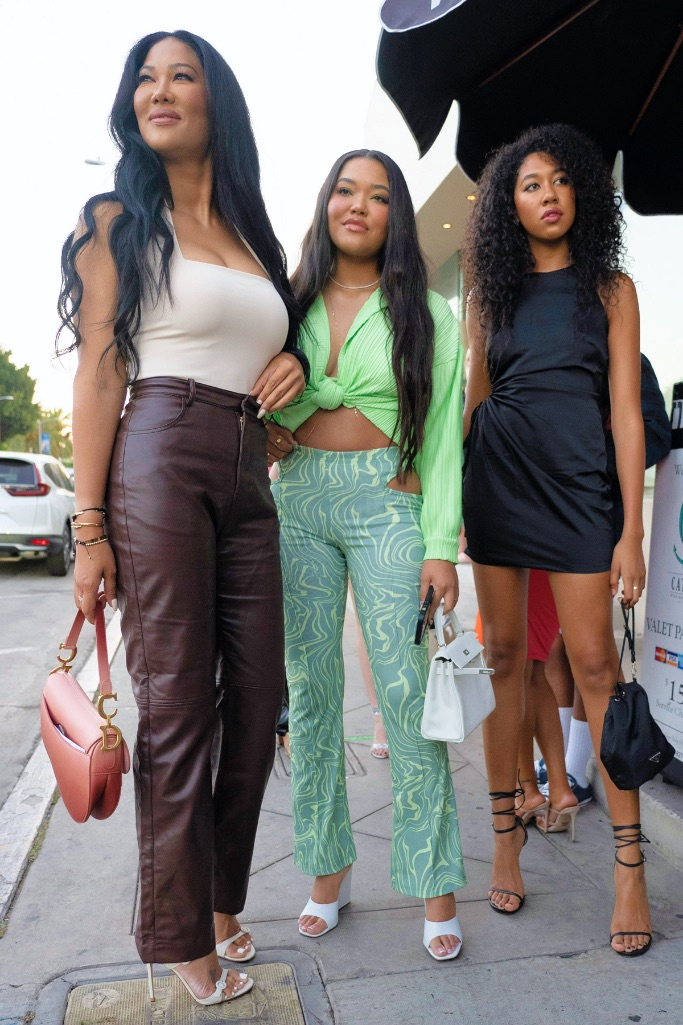 Kimora, Ming and Aoki Lee Simmons, Boohoo launch party, collab