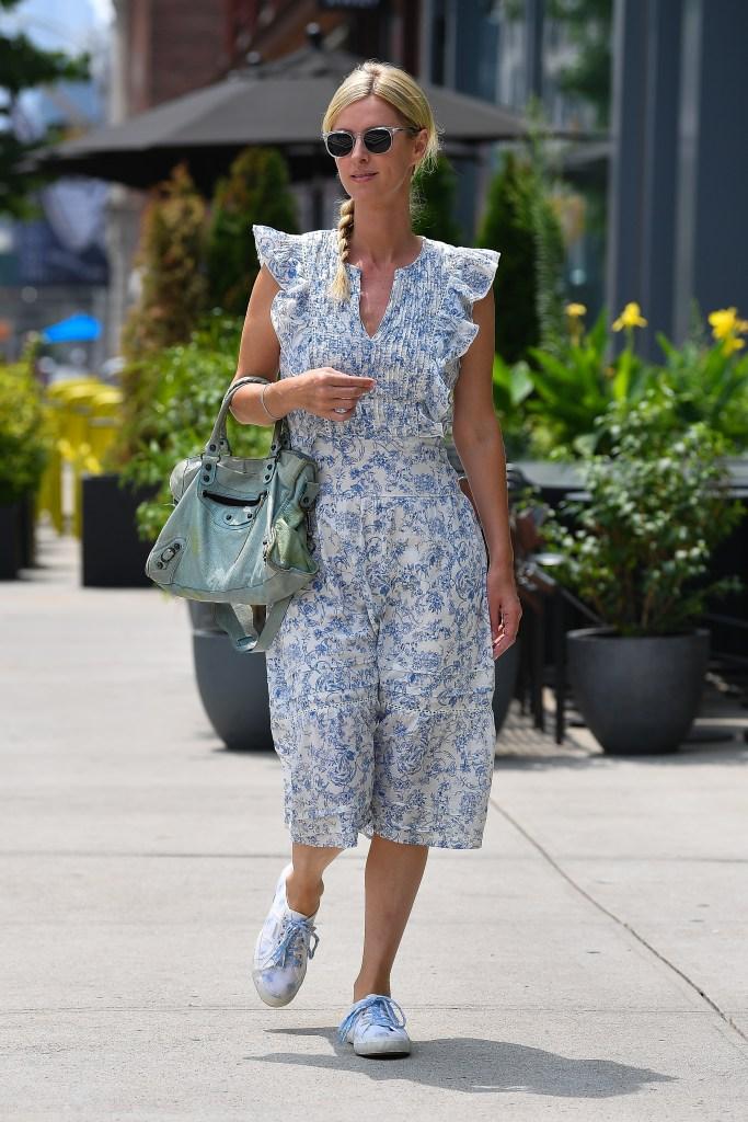 Nicky Hilton wears a blue floral dress in New York CityPictured: Nicky HiltonRef: SPL5241502 260721 NON-EXCLUSIVEPicture by: Robert O'Neil / SplashNews.comSplash News and PicturesUSA: +1 310-525-5808London: +44 (0)20 8126 1009Berlin: +49 175 3764 166photodesk@splashnews.comWorld Rights