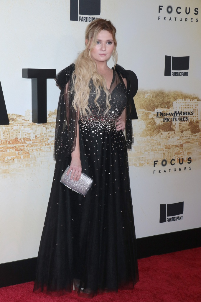 """Matt Damon, Abigail Breslin and Tom McCarthy attend the """"Stillwater"""" New York premiere at Rose Theater, Jazz at Lincoln Center on July 26, 2021 in New York City.Pictured: Abigail BreslinRef: SPL5241564 270721 NON-EXCLUSIVEPicture by: Jackie Brown / SplashNews.comSplash News and PicturesUSA: +1 310-525-5808London: +44 (0)20 8126 1009Berlin: +49 175 3764 166photodesk@splashnews.comWorld Rights"""