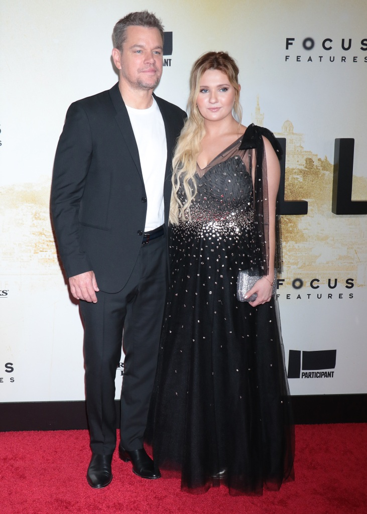 """Matt Damon, Abigail Breslin and Tom McCarthy attend the """"Stillwater"""" New York premiere at Rose Theater, Jazz at Lincoln Center on July 26, 2021 in New York City.Pictured: Matt Damon and Abigail BreslinRef: SPL5241564 270721 NON-EXCLUSIVEPicture by: Jackie Brown / SplashNews.comSplash News and PicturesUSA: +1 310-525-5808London: +44 (0)20 8126 1009Berlin: +49 175 3764 166photodesk@splashnews.comWorld Rights"""