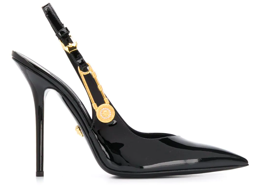 Versace, safety pin pumps