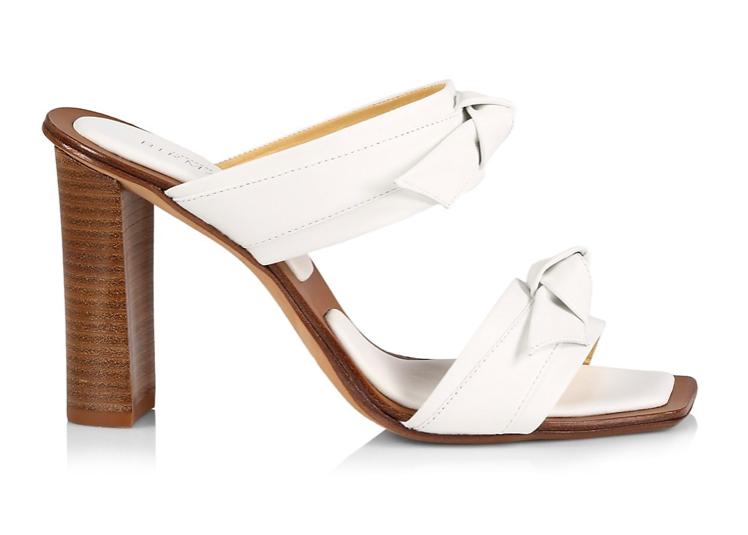 Alexandre Birman, clarita sandals, knots, block heel