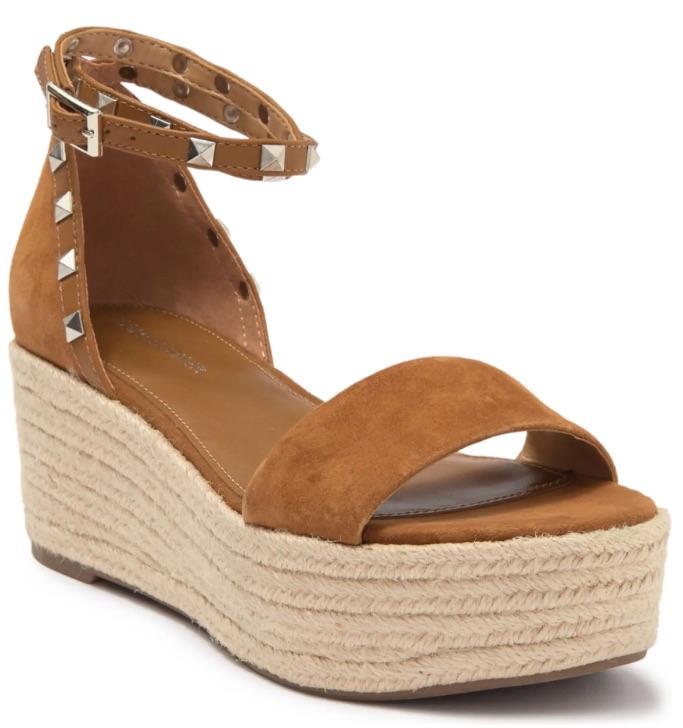Marc Fisher Jazlyn Studded Ankle Strap Espadrille Sandal