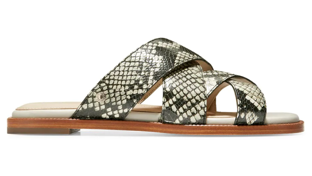 Cole Haan, sandals, snake print