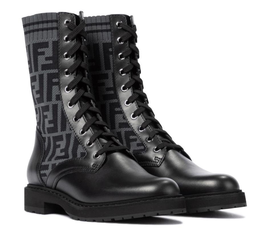Fendi, combat boots
