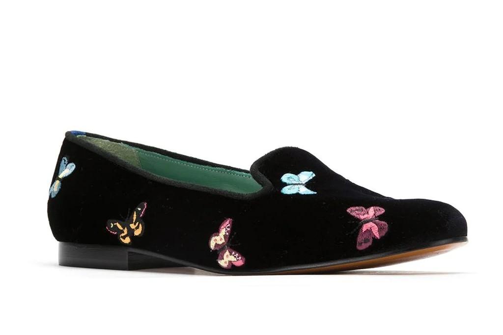 Blue Bird Shoes Velvet Borboleta Loafer, loafers for women