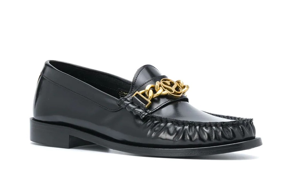 women's loafers, Sandro Paris Chain-Embellished Loafer