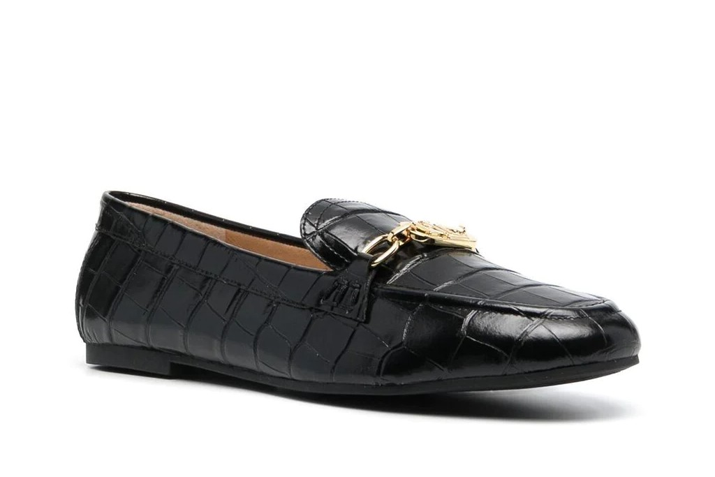 loafers for women, Lauren Ralph Laurens Crocodile-Effect Leather Loafer