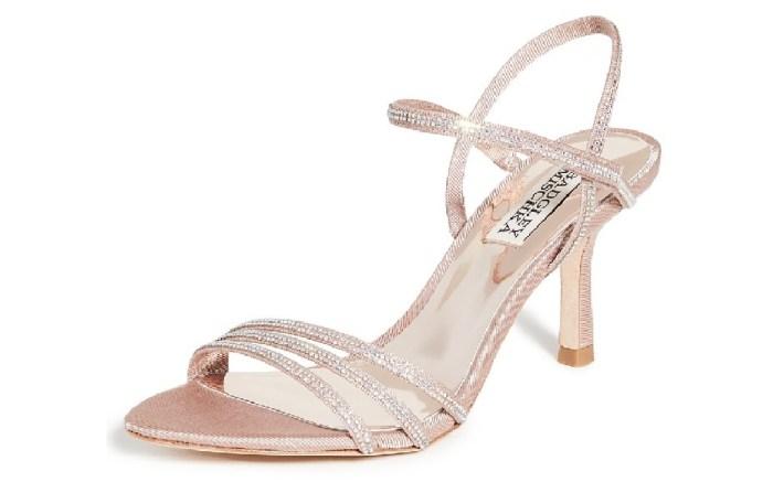 Badgley Mischka Dessa Strappy Sandal, affordable wedding heels
