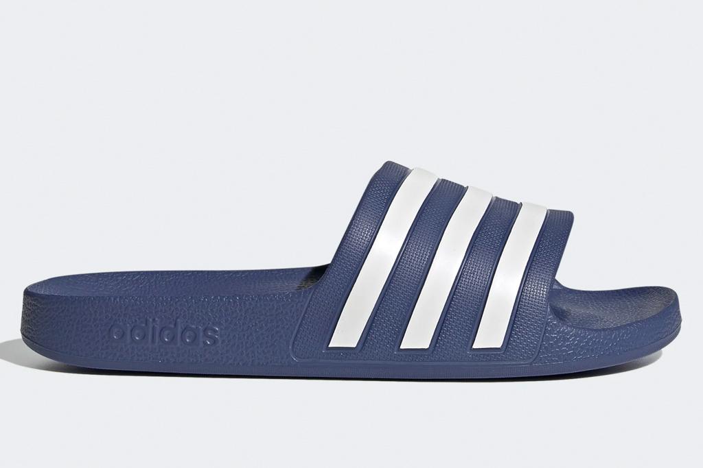 adidas, slides, navy, white