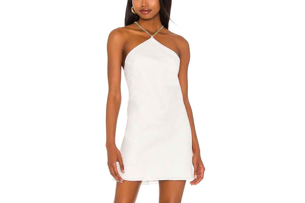 amanda uprichard, dress, white, backless