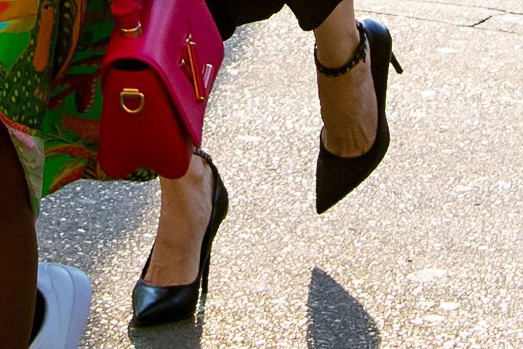 angelina jolie, dress, silk dress, jacket, heels, pumps, kids, paris, dinner