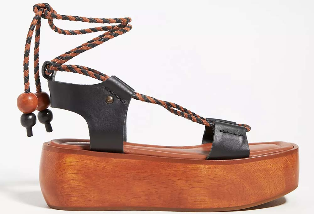 The Odells Ankle-Tie Platform Wedge Sandals