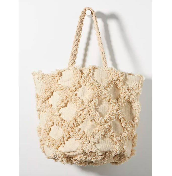 Anthropologie Textured Trellis Tote Bag, best summer handbags