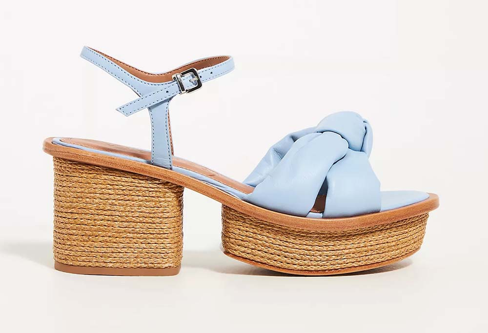 Vicenza Knotted Woven Platform Sandals