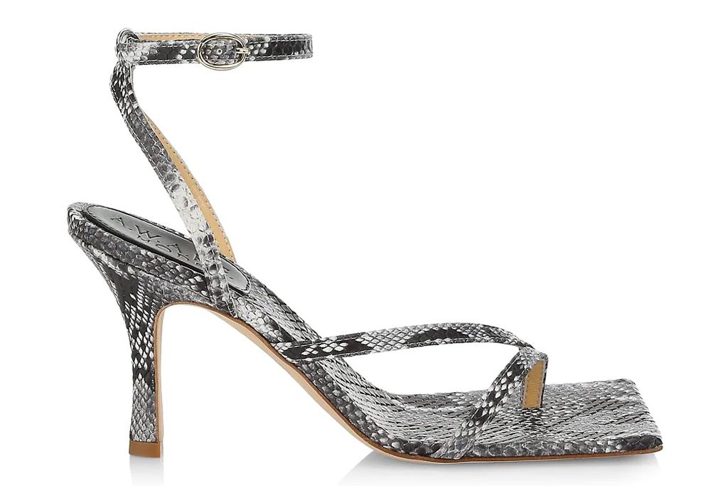 sandals, snakeskin, heels, awake mode