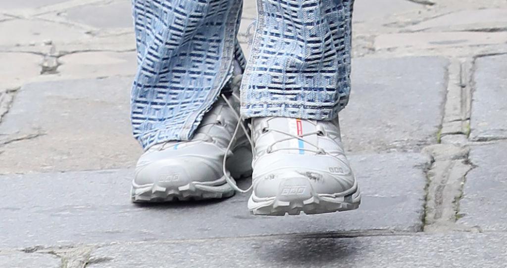 bella hadid, sneakers, paris, france