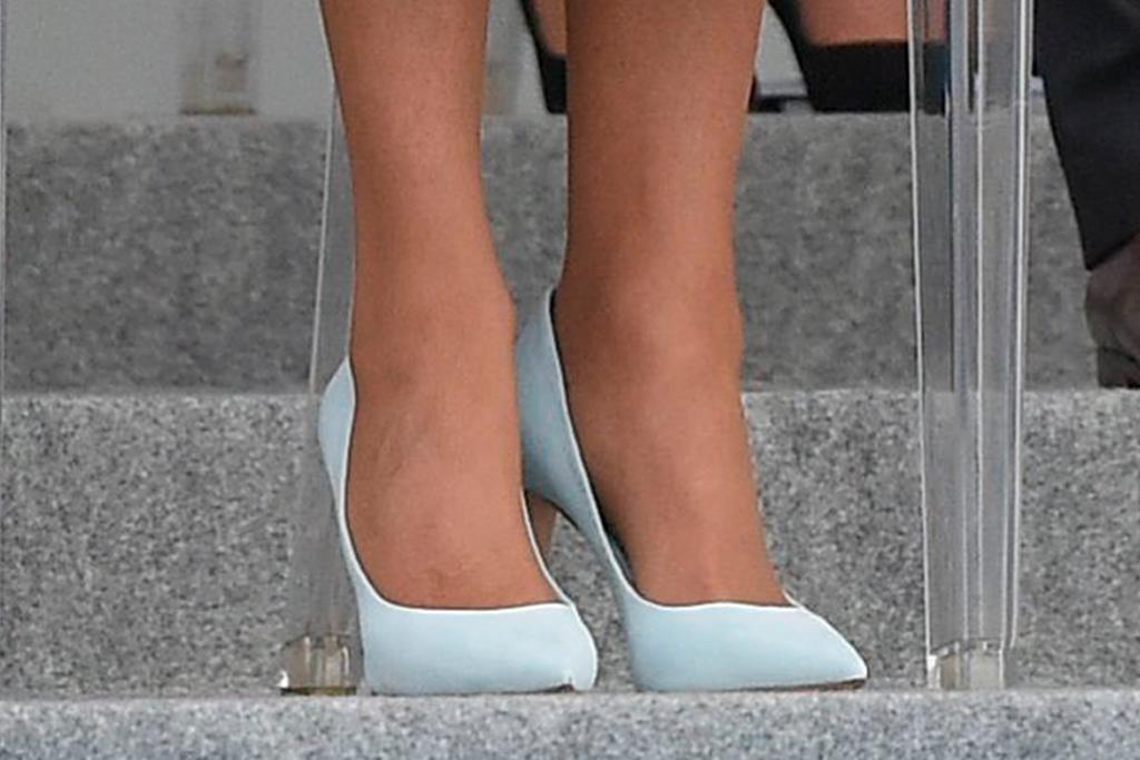 brigitte macron, dress, blue dress, heels, bastille day, 2021, paris