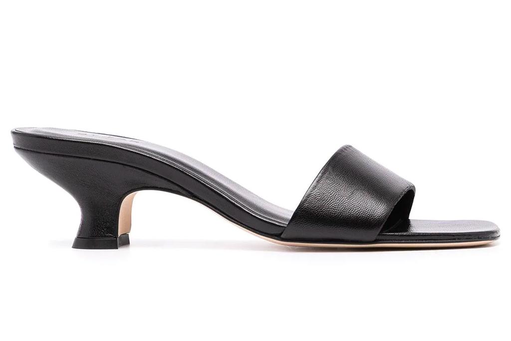 black heels, mules, kitten heels, by far