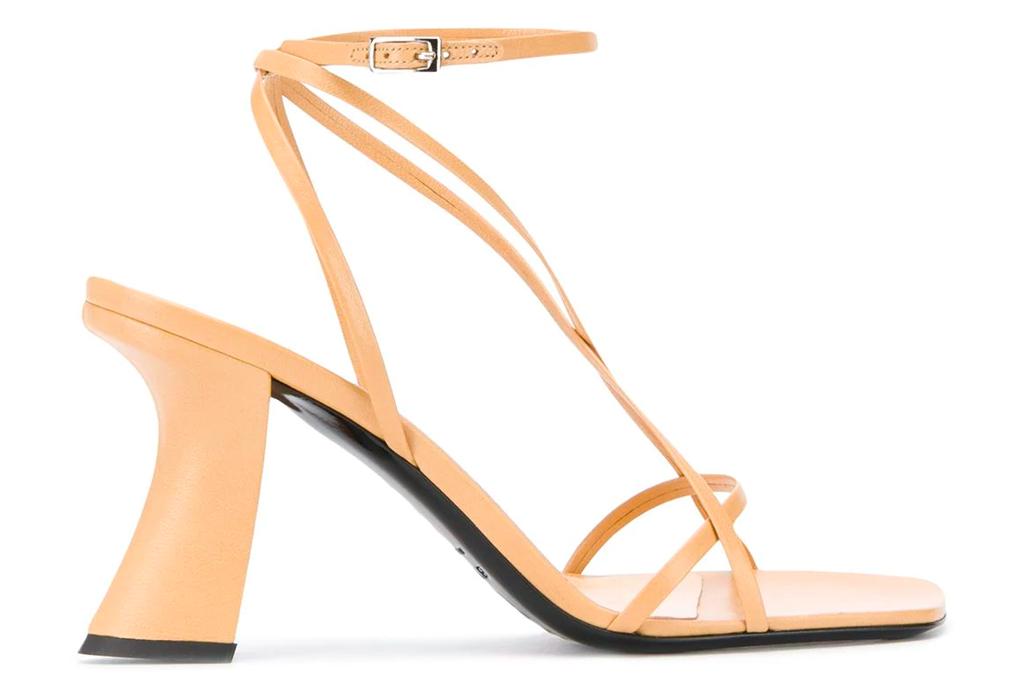 sandals, nude heels, by far