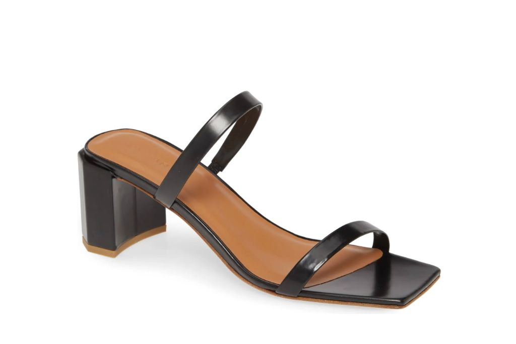by far, tanya strappy sandal, square toe shoes
