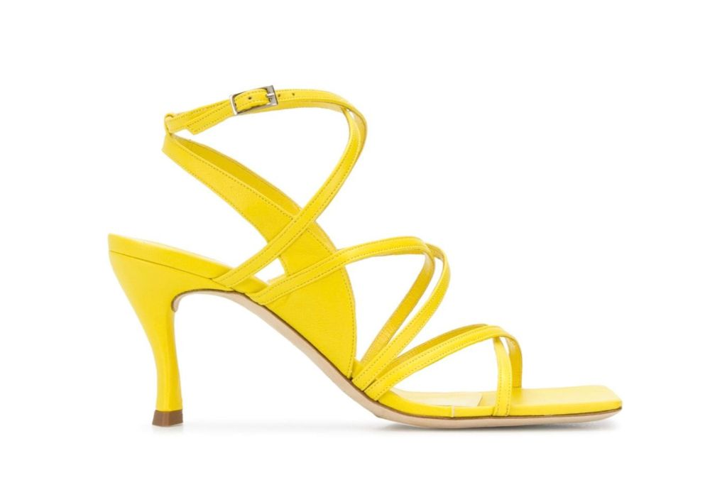 by far, yellow heels