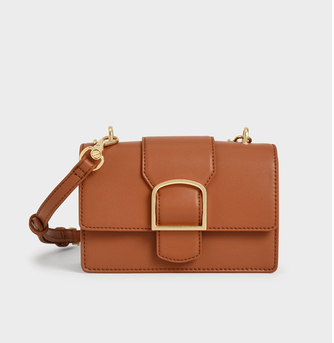 Charles & Keith Metallic Buckle Crossbody Bag, best summer handbags