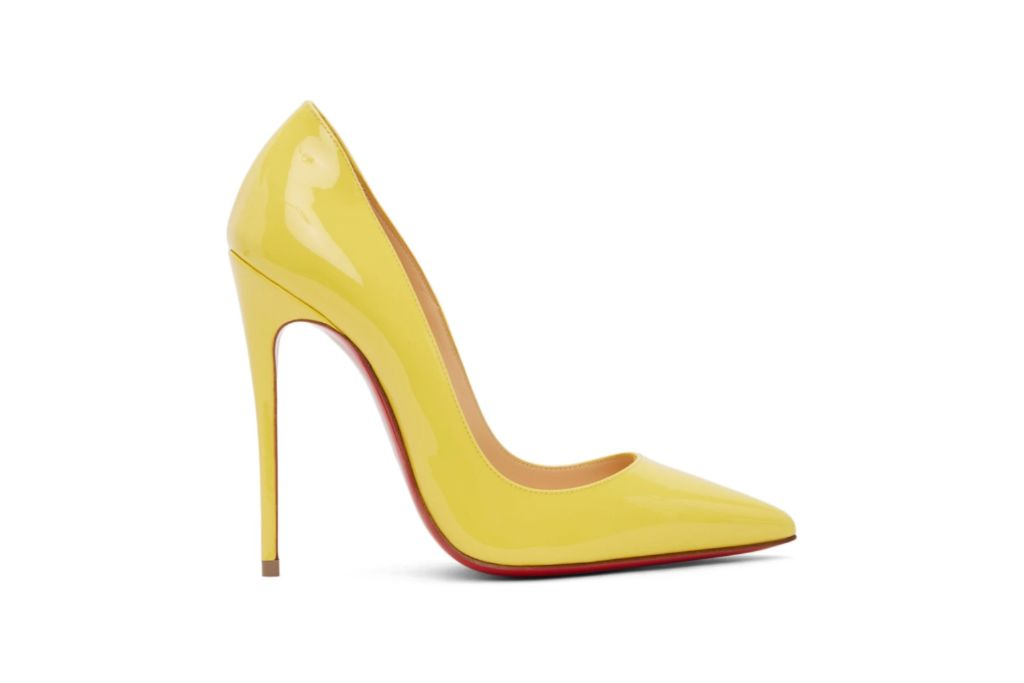 christian louboutin, yellow, so kate pump