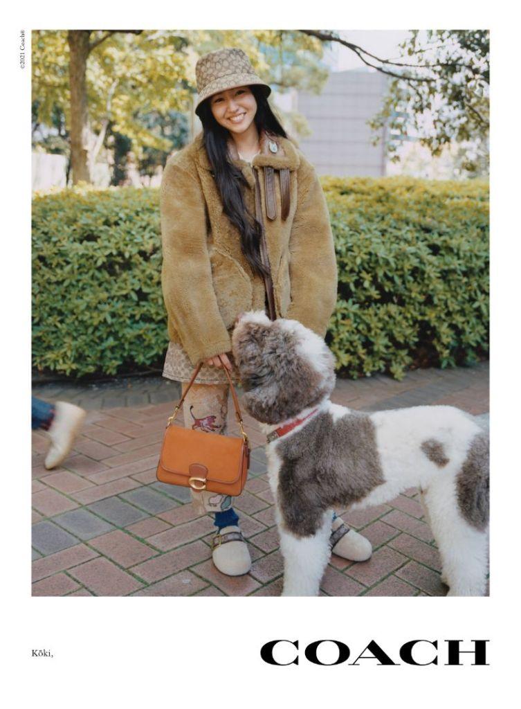 coach, jennifer lopez, sweater, dress, heels hat, purse, fall collection, fall 21, campagin