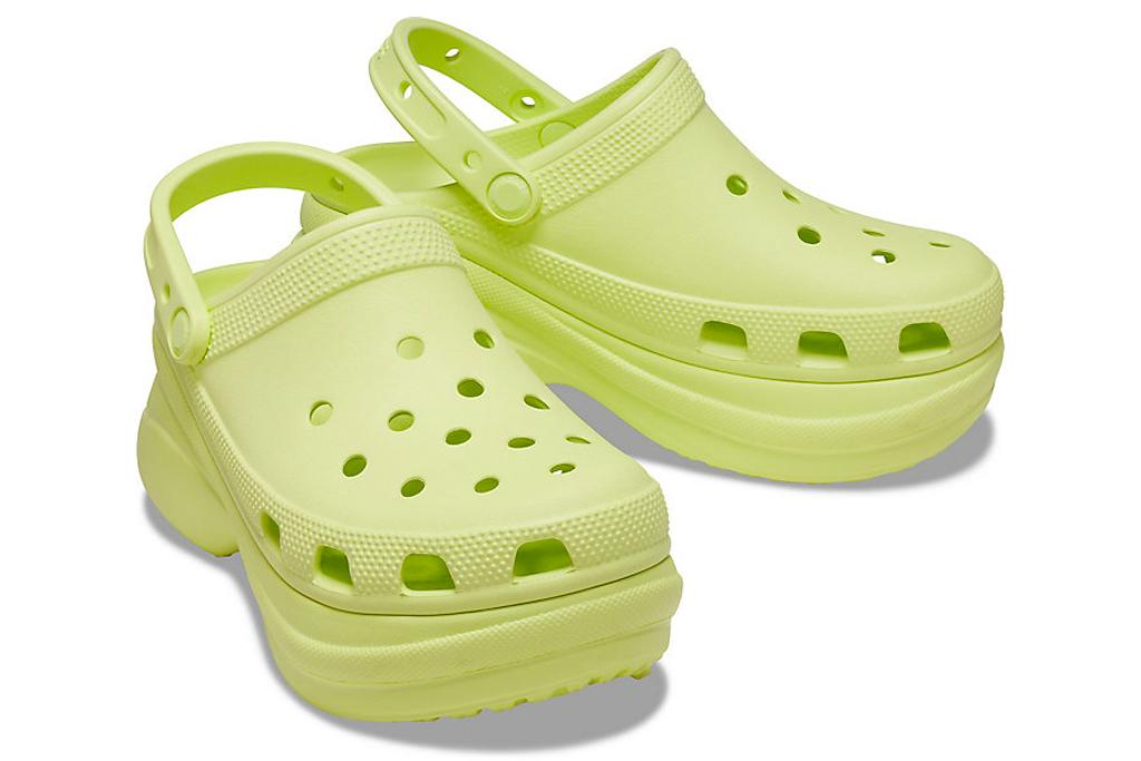 crocs, platform, yellow, bae, clogs