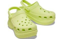 Crocs yellow platform clogs