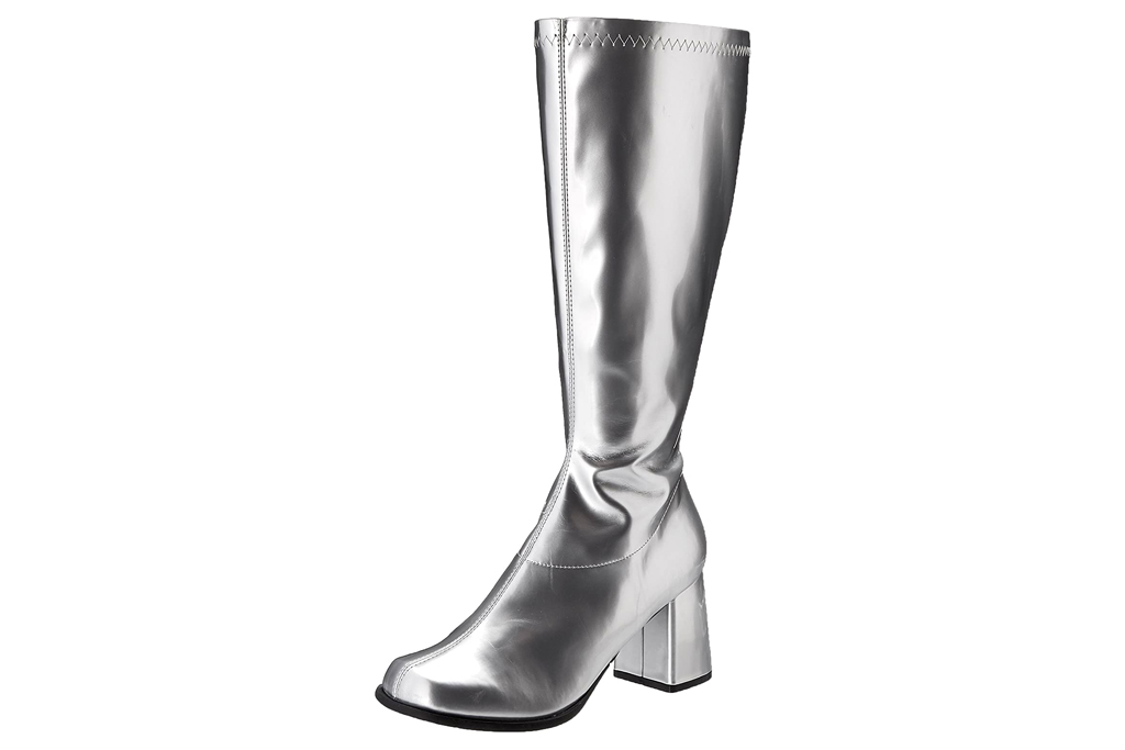 silver boots, gogo, ellie shoes
