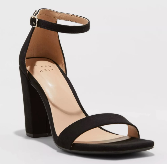 Ema High Block Heeled Square Toe Pumps, best Target heels