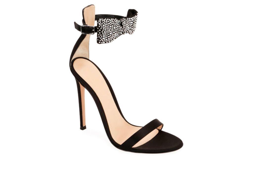 gianvito rossi, bow heel, sparkly heels
