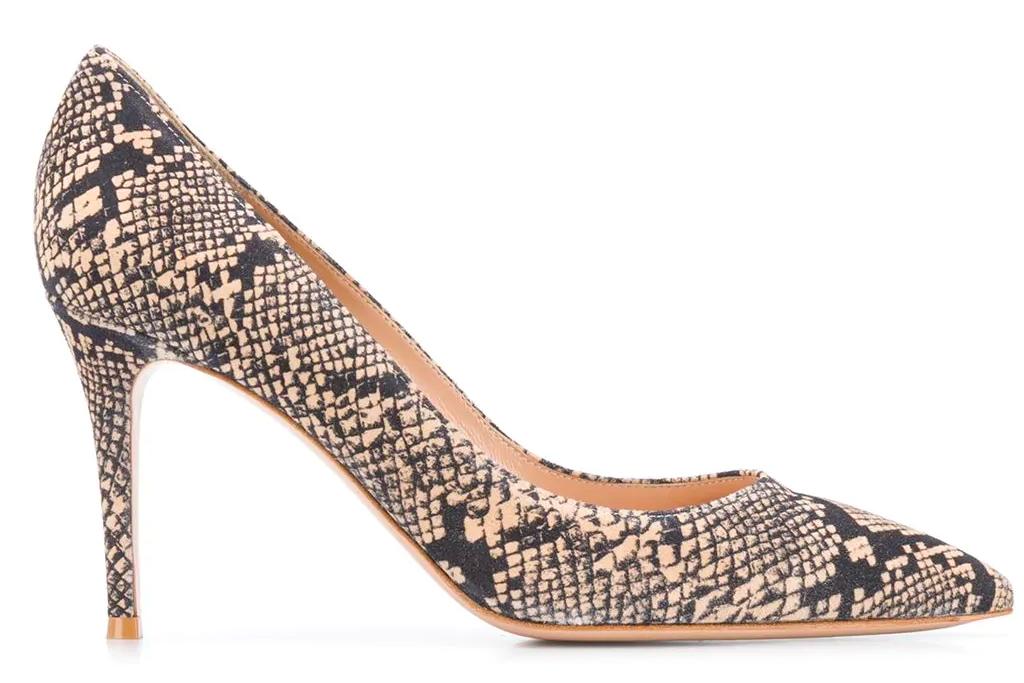 snakeskin heels, pumps, gianvito rossi