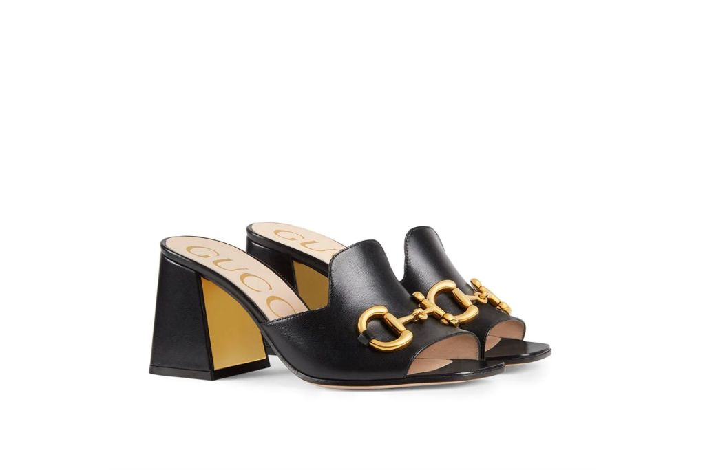 gucci, horsebit mule sandals