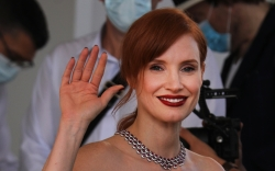 jessica chastain, black tulle dress, cannes