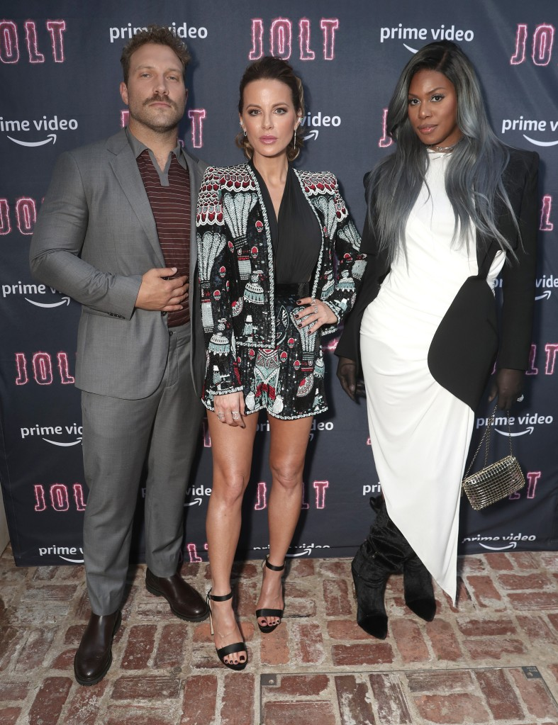 """Jai Courtney, Kate Beckinsale and Laverne Cox attends Amazon Studios """"Jolt"""" Special Screening on Saturday, July 19, 2021 in Los Angeles"""