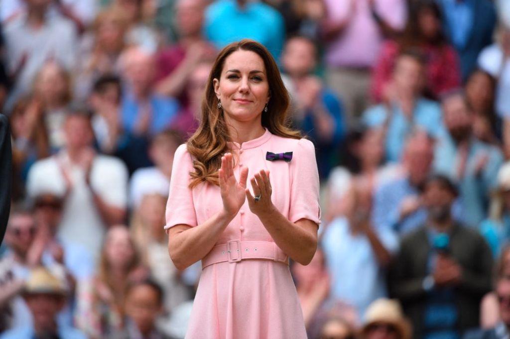 kate middleton, pink dress, heels, aldo, wimbledon, 2021