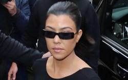 kourtney kardashian, top, sheer skirt, pvc
